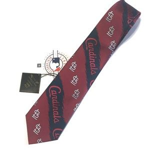 New! MLB STL Cardinals Men's Silk Tie